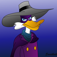Darkwing Gradient Duck by sweetkat22